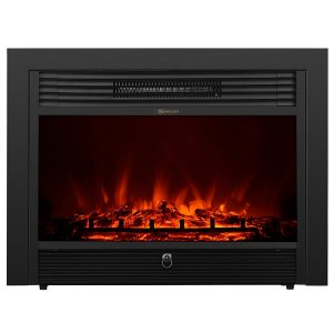 KUPPET 50 inches Wall Mounted Electric Fireplace (Black)