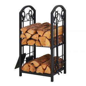Patio Watcher Heavy Duty Steel Firewood Rack Log Rack