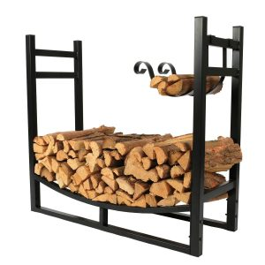 1.Go 3 Feet Indoor:Outdoor Heavy-Duty Firewood Rack