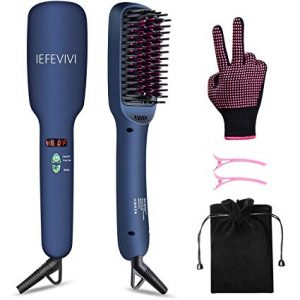 IEFEVIVI Lonic-2-in-1 Hair Straightening Brush