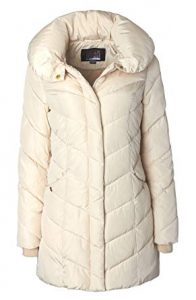 Sportoli Women's Winter Chevron Quilted Puffer winter Jacket Coat- Fleece Lined with Hood