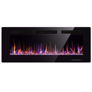 Xbeauty 50 inches Multicolor Flames Electric Fireplace (Black)