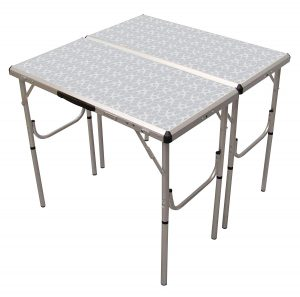 Coleman Pack-Away Adjustable Height four-in-one Folding Camping Table
