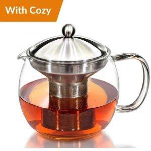 Willow and Everett Teapot Kettle with Flowering Tea Filter and Warmer