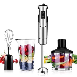 CUSINAID Immersion Hand Blender, 4-in-1 Handheld Stick Blender
