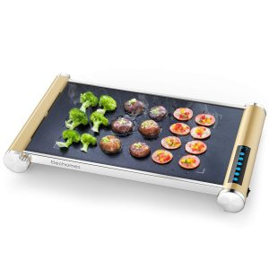 Elechomes Electric Even Heating Grill Griddle with LED Touch Control