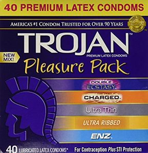 Trojan Pleasure 40 Count Lubricated Latex Condoms