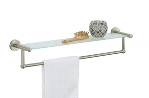 Organize It All Glass Shelf with Towel Bar