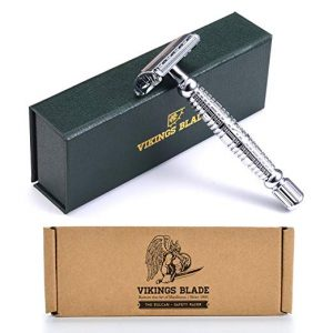 VIKINGS BLADE Swedish Platinum Vulcan Safety Razor + Carry Case