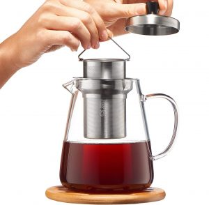 CUSINIUM Glass Teapot Strainer with Infuser