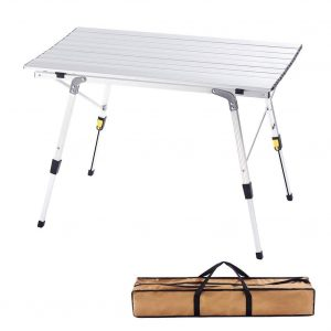 CampLand Aluminum Folding Table Height Adjustable Camping Table