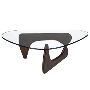 Poly and Bark Sculpture Dark Walnut Coffee Table