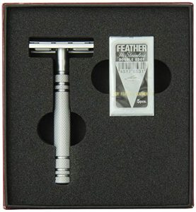 Feather All Stainless Steel Model AS-D2 Double-Edge Razor