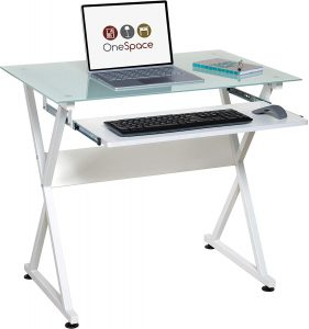 OneSpace Ultramodern Glass Computer Desk