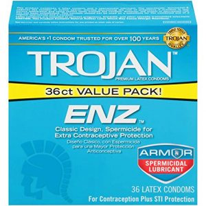 Trojan ENZ Spermicidal 36ct Lubricated Condoms