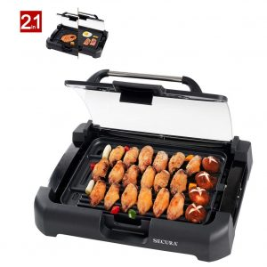 Secura 1700W GR-1503XL Electric Reversible Grill Griddle