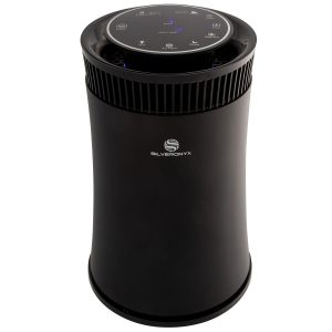 SilverOnyx Air Purifier with UV Light, True HEPA Carbon Filter, Black