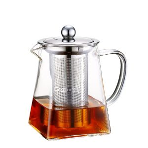 Toyo Hofu Small Heat Resistant Clear High Borosilicate Glass Teapot