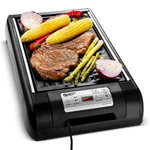 Magic Mill 2 in 1 Electric Griddle Pan and Smokeless Grill