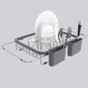 Shanik Expandable Over-Sink Draining Dish Rack