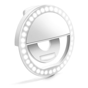 Enlody Selfie Dimmable 36 LED Bulbs Clip Ring Light (White)