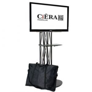 CiERA EZ Fold All-In-One Portable TV Stand with Shelf
