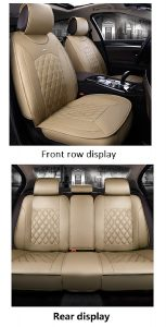 JOJOHON Luxury PU Leather Auto Car Seat Cover