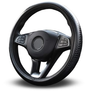 Vitodeco Luxury Genuine Leather Steering Wheel Cover