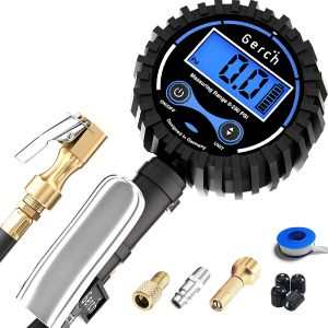 GERCH - Digital Tire Inflator Longer 24 Hose with Pressure Gauge