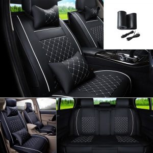 Fly5D Universal PU Leather Car Seat Cover