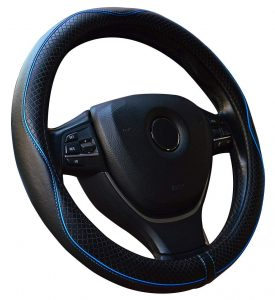 Super Accessories Auto Leather Steering Wheel Cover