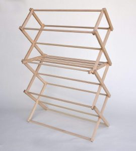 Benson Wood Products Wooden Clothes Drying Rack