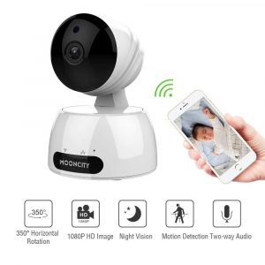 mooncity- Home Security Surveillance Camera Wireless, Baby Monitor