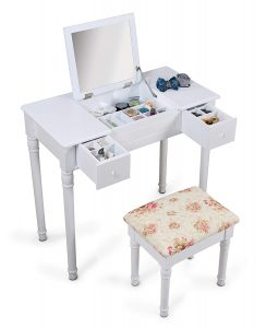 Organizedlife White Vanity Dressing Table