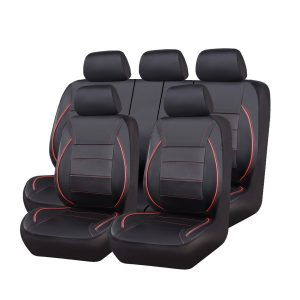 CAR PASS Universal FIT Piping Leather Car Seat Cover