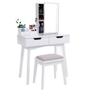 BEWISHOME Vanity Set with Mirror