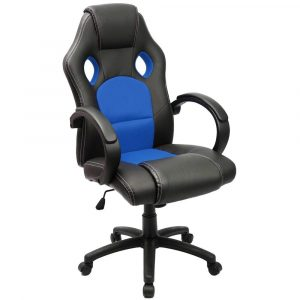 Furmax Office Chair Leather Task Swivel Executive Desk Gaming Chair (Black)