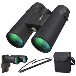 Kylietech HD Binoculars Professional Compact Waterproof and Fogproof with Phone Adapter