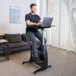 FLEXISPOT Home Office Deskcise Pro Standing Desk Exercise Bike