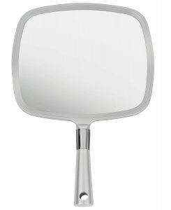 Mirrorvana Large & Comfy Hand Held Mirror with Handle