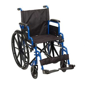 Drive Medical Blue Streak 18 Seat Wheelchair with Swing Away Footrests