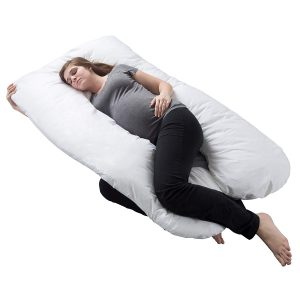 Bluestone-Full Body Maternity Pillow Pregnancy Pillow with Contoured U-Shape