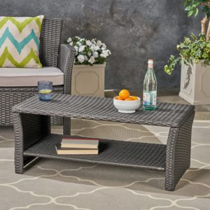 Great Deal Furniture Outdoor Wicker Coffee Table