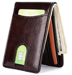 GintaXen Men's Leather Front Pocket Wallet