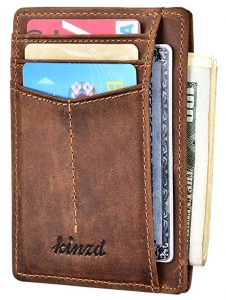 kinzd Wallet RFID Front Pocket Wallet Minimalist Thin Credit Card Holder