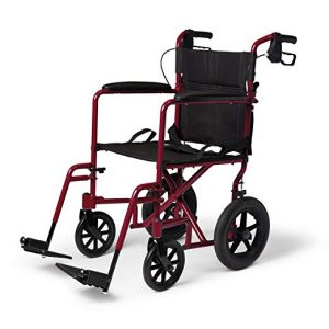 Medline Lightweight Folding Wheelchair with Handbrakes