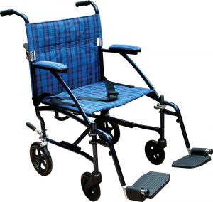 Drive Medical Fly Lite Ultra Lightweight Wheelchair with Blue Frame