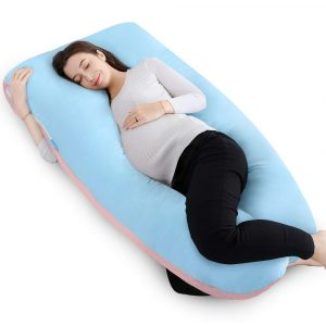 QUEEN ROSE 55in Full Body U Shaped Maternity Pillow Pregnancy Pillow