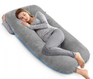 AngQi 55in Pregnancy Pillow Velvet Cover-U Shaped Body Pillow