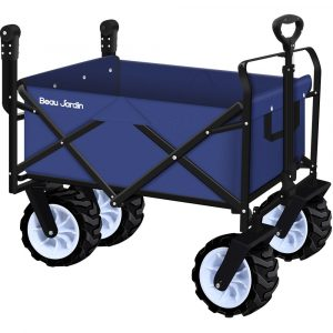 BEAU JARDIN Folding Push Beach Cart